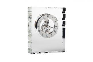 C81494 Klaasist lauakell hõbe 13*5*16 cm