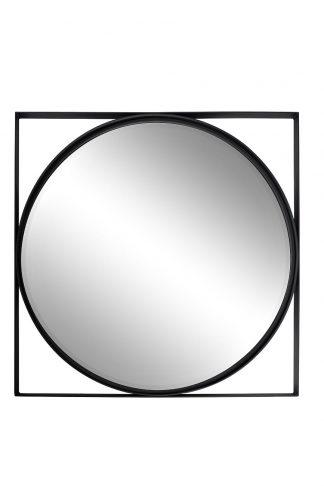19-OA-6321 Peegel mustas raamis 81*81 cm