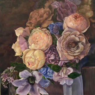 """89VOR-AQUARELLE35 Lõuend """"Lilled"""""""