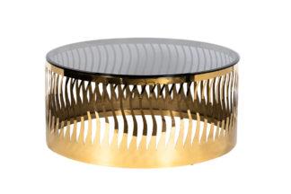 Diivanilaud ümmargune toonitud klaas/kuld d90...