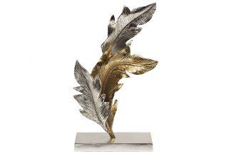 """71PN-1836 Statuett """"Lehed"""" metall..."""