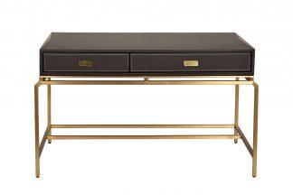 76AR-D671 Kirjutuslaud pruun/matt kuld